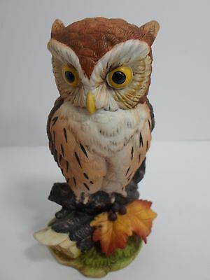 Andrea by Sadek Porcelain Bird Figurine Great Horned Owl #6315