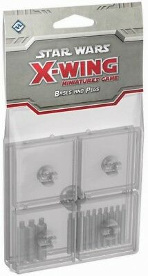 Star Wars X-Wing Miniatures Game Clear Bases And & Pegs New!