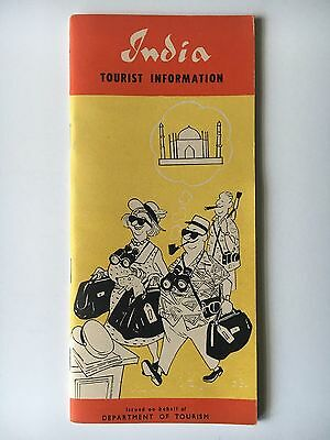 1964 Illustrated India Tourist Information Booklet Gov't of India