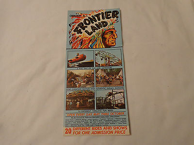 Frontier Land Vintage travel brochure Cherokee NC 60s Rides Shows Steam train