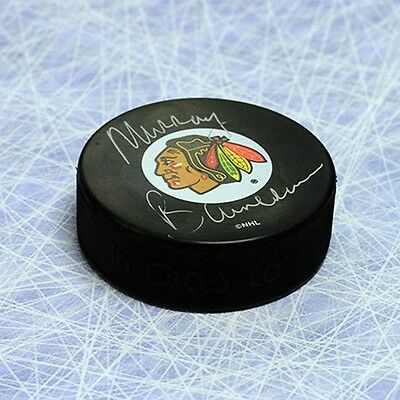 Murray Bannerman Chicago Blackhawks Autographed Hockey Puck