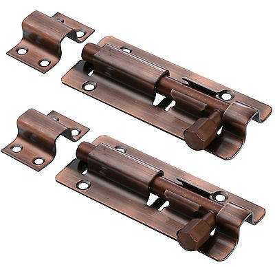 Antique Copper Stainless Steel Anti-theft Revealed Door Slide Latch Bolt Barrel,