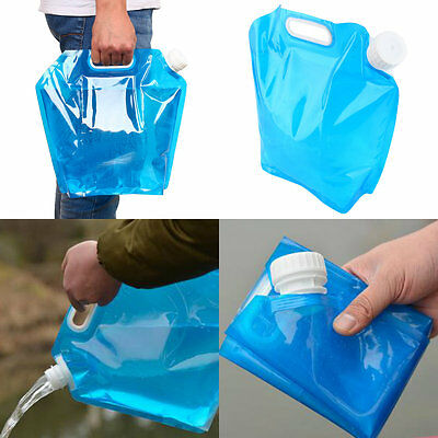 5L 10L Folding Drinking Water Container Storage Bag Pouch For Camping Picnic EB