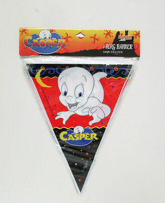 Casper the Friendly Ghost Halloween Party 12' Flag Banner Wall Decoration 1997