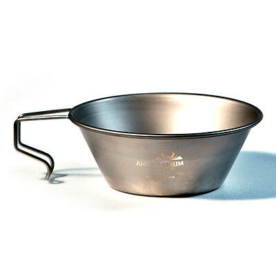 AMG Titanium Sierra Cup Lightweight Outdoor Camping Cookware Backpacking Hiking