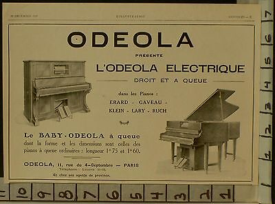 1928 Odeola Player Piano Electric Music Dance Baby Grand Upright  2288222882