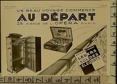 1928 Legers Travel Chest Trunk Armoire Shave Voyage French Deco   22895 22895