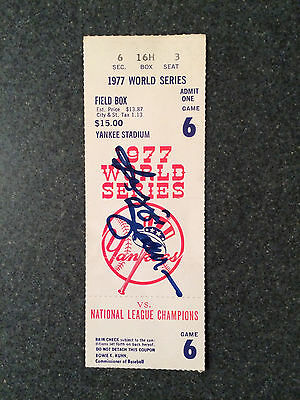 1977 World Series Game 6 Ticket Stub, Signed by Reggie Jackson