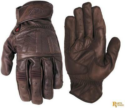 RSD Barfly Perforated Leather Gloves Tobacco XL/X-Large RD7239 0802-0107-0155