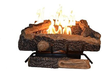Emberglow Oakwood 24 in. Manual Vent-Free Natural Gas Home Fireplace Logs