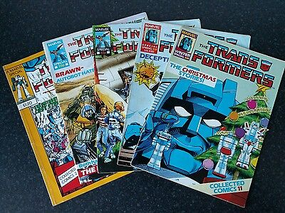 Transformers Collected Comics G1 bundle 2, 3, 4, 5, 11