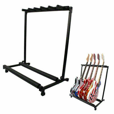 AU Ship Fancy Stylish Guitar Stand Storage Rack Fits 5 Guitars Metal Padded Foam
