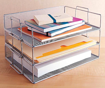 Design Ideas Single Tray Stackable Paper Letter Office Desk Organizer Storage