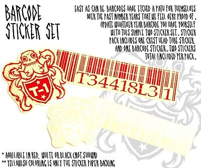 NEW Terrible One Barcode Frame Sticker pack