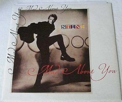 "STING German 1991 12"" Single  MAD ABOUT YOU   DiscNEW"