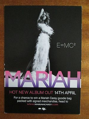 Mariah Carey E=MC2 Album Touch My Body Single Picture Card Advert Flyer