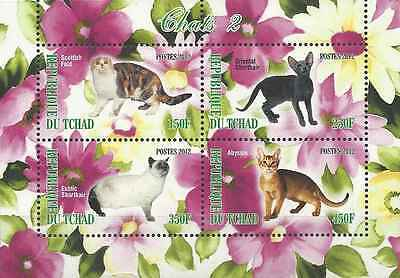 Timbres Chats Tchad ** année 2012 lot 2964