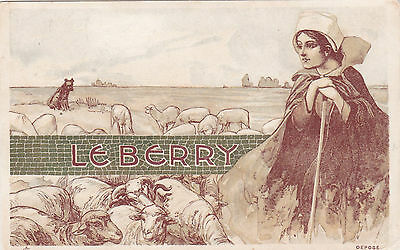 LE BERRY, France , 1901 ; Art Nouveau Woman