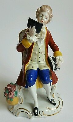 Vintage German Porcelain Figure Figurine with Copycat Meissen Mark Ref:S