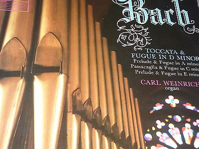 Bach Organ Recital Carl Weinrich Organ of Varfrukyrkan in Skanninge, Sweden LP