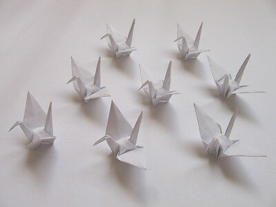100 Small White Origami Cranes For Wedding Decorations