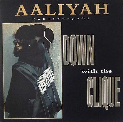 "AALIYAH UK 1995 12"" Single DOWN WITH THE CLIQUE NearMINT"