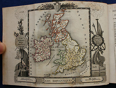 Antique miniature British Isles County Atlas 'Angleterre' Depping, Perrot, 1824
