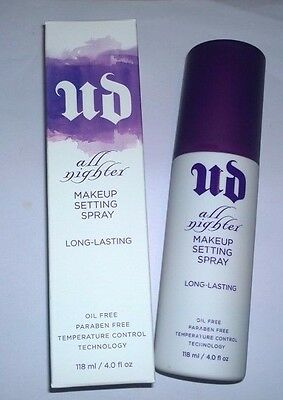 Urban Decay All Nighter Makeup Setting Spray - Full Size 4 oz - New in Box