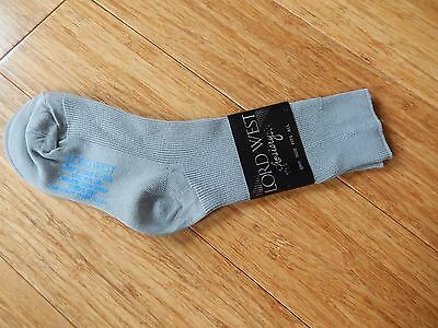 Vintage LORD WEST Hosiery Tuxacco Gray Socks Boy's Size 6 - 8 1/2 100% Nylon