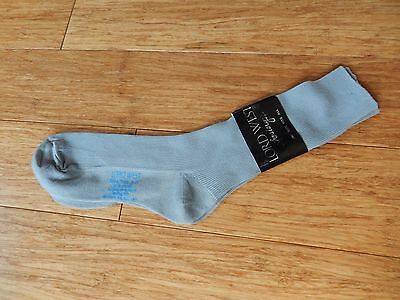Vintage LORD WEST Hosiery Tuxacco Gray Socks Boy's Size 9 - 11 100% Nylon