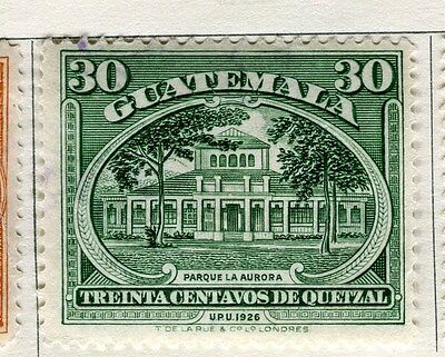 GUATEMALA;   1929 early pictorial issue fine used 30c. value
