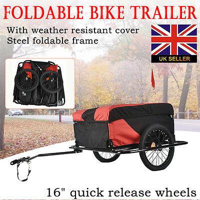 """26"""" to 28"""" Bicycle Cargo Trailer with Universal Mounting Hitch 140L Capacity"""