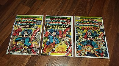 Captain America # 193 & 196 & 197 (3 Comics in 9.0 or better condition) Marvel