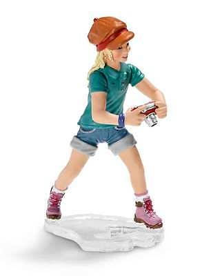 Schleich --Girl with Camera --Hard Plastic Toy Figure
