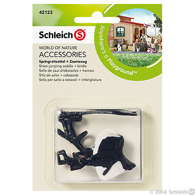 Schleich --Show Jumping Saddle + Bridle --Hard Plastic Toy Figure