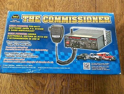 Wolo Manufacturing The Commissioner 4200 Electronic Siren Pa Radio