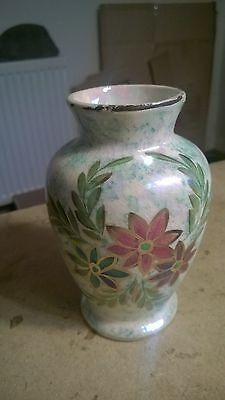 Old Court Ware Hand Painted Vase. 14cm Tall Shabby Chic Looks Old!