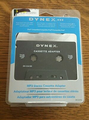 Dynex Universal Mp3 Stereo Cassette Adapter Open Box Item Dx-Ca103