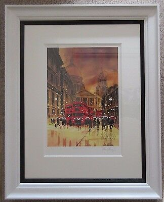 Peter Rodgers, Reflections in City AP Signed Framed Limited Edition London Print