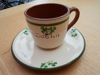 Vintage Carrig ware cup & saucer, made in Ireland