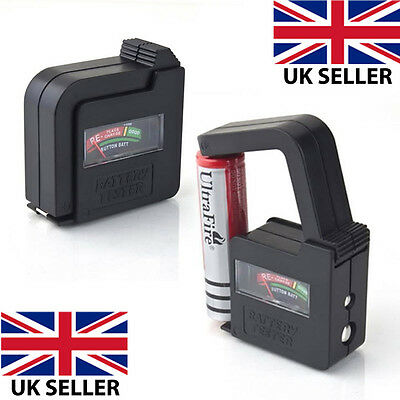 Aa/aaa/c/d/9V/1.5V Universal Button Cell Battery Volt Tester Checker New Uk Sell