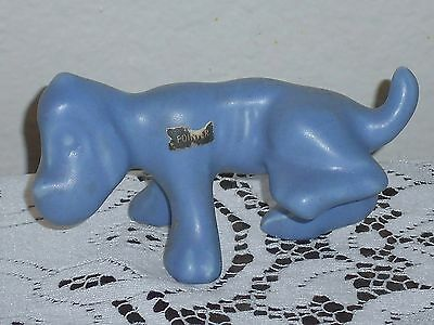 Camark Pottery POINTER Blue Purple Dog Peeing Figurine Grapette Soda Vintage