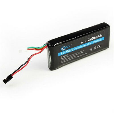 Power 11.1V 2200mAh 15C Battery Li-POLY Rechargeable Battery New