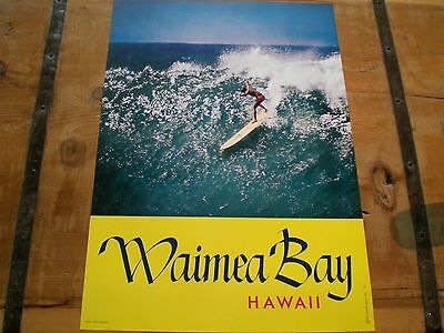 VINTAGE 1960's MIKE DOYLE* Surfing *WAIMEA BAY* SURF Poster - Mint Condition!
