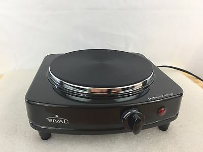 Rival Single Solid Burner - Model SB150 - Rival Single Electric Table Stove