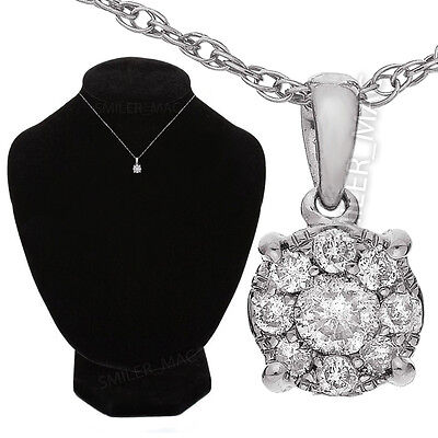 ¼ Carat Diamond Pendant Boxed Sterling Silver Prince Of Wales Chain ct 1/4 .25