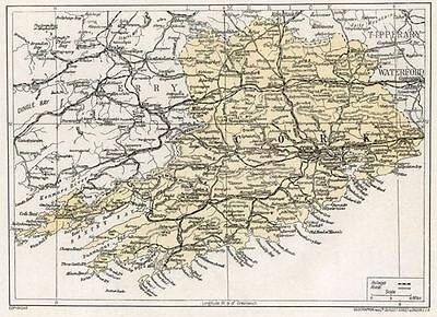 1923 map of Ireland: Co. Cork antique ready-mounted print SUPERB