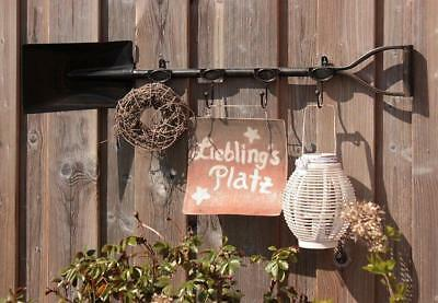 G2002: Great Nostalgia Hook rack When spade, Garden Garderobe, Iron bemalt