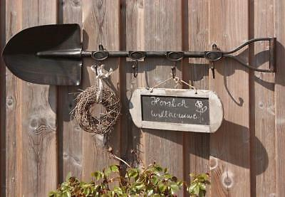 G2001: Great Nostalgia Hook rack as scoop, Garden Garderobe, Iron bemalt