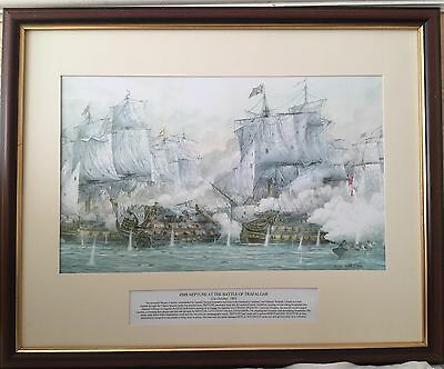 Print Of ships Framed Signed Keith Bacon Limited Edition 05/100
